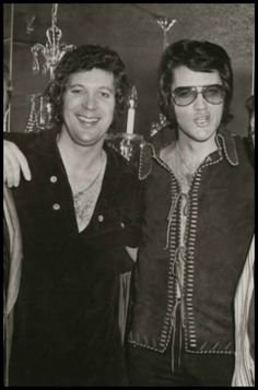 Tom Jones and Elvis Presley...I guess these guys were my parent's 'rock stars'
