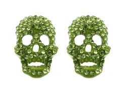 Green stud skull earring Fashion Jewelry Costume Jewelry fashion accessory Beautiful Charms Beautiful Charms Annys fashion jewelry,http://www.amazon.com/dp/B00F3L1WXA/ref=cm_sw_r_pi_dp_S1bLsb0PERTNNSB6