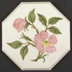 Franciscan Desert Rose (USA Backst&) Octagonal Tea Tile & Franciscan Ware China Desert Rose Original Price Guide Booklet 1956 ...