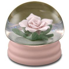 Pink Rose Musical Waterglobe #21247