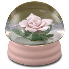 Pink Rose Musical Waterglobe #21247