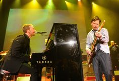 Rockin' fox. Coldplay's Chris Martin and Michael J. Fox rock the stage at the 2013 A Funny Thing Happened on the Way to Cure Parkinson's event on Nov. 9 in New York