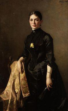 monsieurleprince:    Carl Rudolph Sohn (1845 - 1908) - Portrait of a lady, 1889