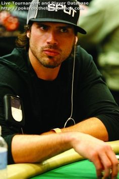 Joshua Morrow on the poker table
