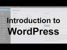 WordPress Tutorial 1: Introduction - YouTube