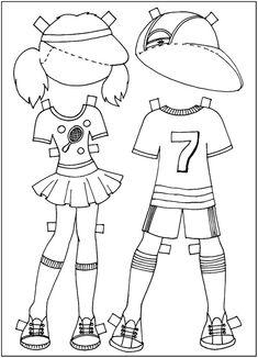 Куклы с одеждой раскраска