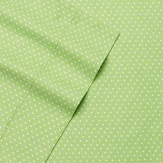 Alpine Dot 300 Thread Count Cotton Printed Sheet Set, Green King