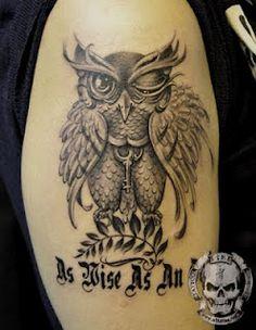 Shoulder Owl Tattoos