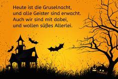Halloween-Spruch: Heute ist die Gruselnacht