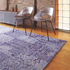 Love the Flor carpet squares, especially in this oriental rug remnant style.
