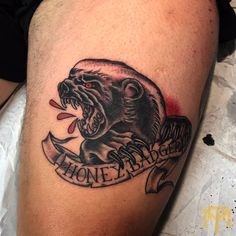 Honey Badger tattoo by Luke Smith from TRADE MARK TATTOO Durban South Africa