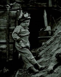 Next time I hear my kids complain about picking up / helping w/ the house, I'll show them this picture...   WOW.  The Little Coal Miner