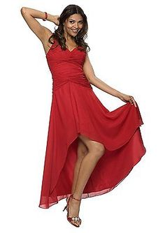UK 6, Red (Red), Astrapahl Women's Co6021ap Dress, Black NEW