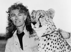 Dr. Laurie Marker - Cheetah Conservation Fund with Kayam her first cheetah whom she met at Wildlife Safari