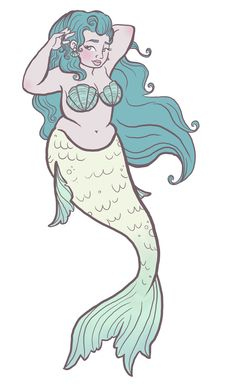 Not having a thigh gap means you're one step closer to being a mermaid. Fat Mermaid, Mermaid Fairy, Mermaid Style, Fantasy Creatures, Mythical Creatures, Sea Creatures, Mermaid Drawings, Mermaid Tattoos, Mermaid Artwork