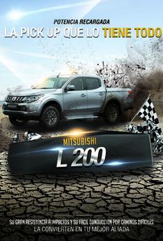 Conduce la nueva Mitsubishi L 200. Solicita tu prueba de manejo al 4-38-82-12