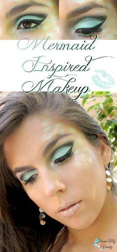 Mermaid Inspired Makeup Tutorial // #BBCChallenge // (www.frommyvanity.com)