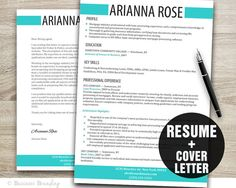 Classy Resume Template Design Instant By Businessbranding On Etsy