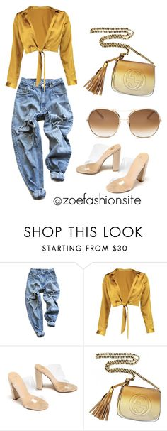 """Untitled #382"" by zoefashionsite ❤ liked on Polyvore featuring Levi's, Boohoo, Gucci and Chloé"