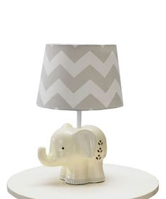 This Elephant Lamp Base by Living Textiles Baby is perfect! #zulilyfinds