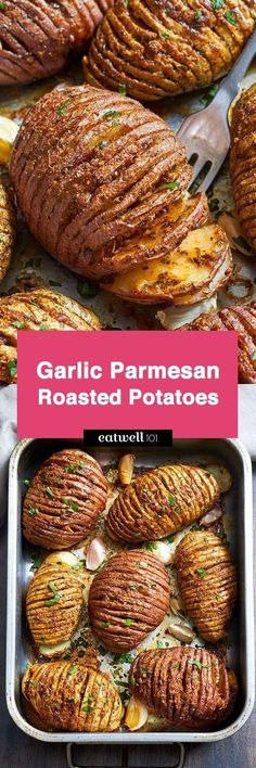 Try these Garlic Parmesan Butter Roasted Potatoes if you're looking for a striking side dish that will impress your guests. Crispy on the outside and tender on the inside, they are very easy to mak… Garlic Parmesan Butter Roasted Potatoes Kira Enge Vegetable Side Dishes, Vegetable Recipes, Vegetarian Recipes, Cooking Recipes, Pasta Recipes, Food Recipes Snacks, Vegetarian Cookbook, Healthy Recipes, Chicken Recipes