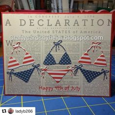 cool way to use our July card kit (it's almost sold out, so snatch it while you still can!) #Repost @ladyb266 ・・・ Just made this 4th of July card with the bikini dies from my Simon says July stamp kit #cardmaking #papercrafter #4thofjuly #sssck