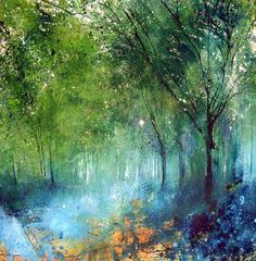 'There is still magic in these woods' by Stewart Edmondson 78cm x 76cm limited edition of 50 £350 (unframed) see more editions and original work by Stewart at www.lyndhurstgallery.co.uk