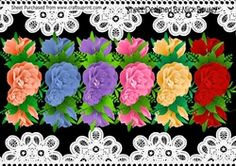6 Pretty colours of a border of roses png on Craftsuprint - View Now!