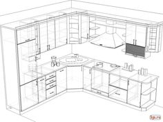 Standard kitchen dimensions and layout engineering discoveries – Artofit Corner Sink Kitchen, Kitchen Cabinet Design, Kitchen Cabinetry, Modern Kitchen Design, Kitchen Layout Plans, Small Kitchen Layouts, Home Decor Kitchen, Kitchen Interior, Kitchen Drawing