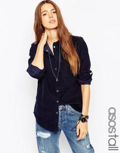 ASOS TALL Cord Boyfriend Shirt