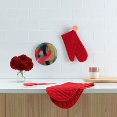 Cooking is easier when you kitchen style is on fireAdd a pop of colour to transform your kitchen practically. #bold #colour #red #kitcheninspo #kitchenstyle #homestyle #interiors #instalove