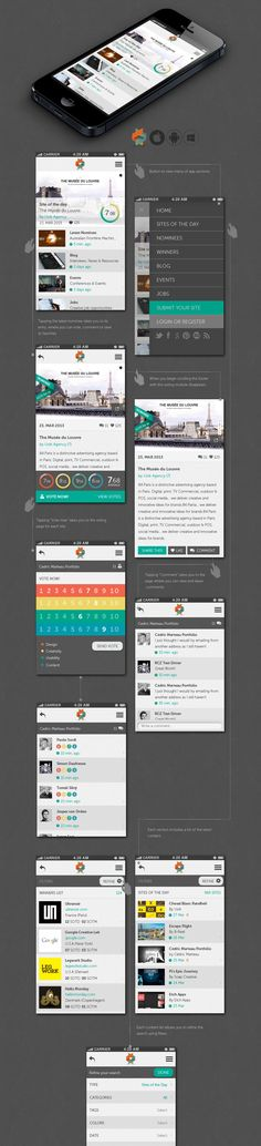 User Journey & Features Description  http://www.awwwards.com/help-us-create-the-new-awwwards-mobile-app.html