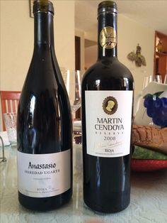 Anastasio y Martin Cendoya vinos de alta gama de Bodegas Eguren Ugarte La Rioja España #wine #vino