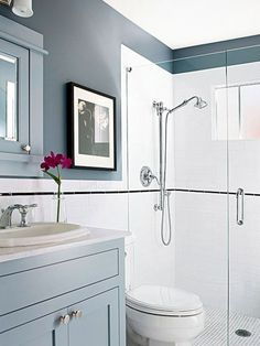 fine 38 Half Wall Shower for Your Small Bathroom Design Ideas https://matchness.com/2018/01/09/38-half-wall-shower-small-bathroom-design-ideas/