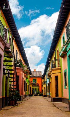 The beautiful Los Martires neighbourhood in Bogotá #Colombia