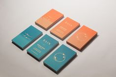 BAIN Silk Printed Business Cards by Nicola Kovac, via Behance