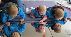 Infant Toddler Setting - plexiglass mirrors on floor (promoting self awareness and exploration of emotions)