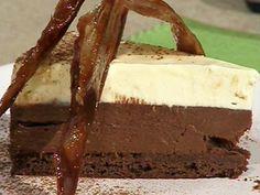 Torta cremosa de chocolate y maracuya