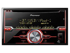 Pioneer FHX-720BT 2-DIN CD Receiver with Mixtrax, Bluetooth® for Hands-Free Calling and Audio Streaming, Siri Eyes Free, USB Playback, Pandora, Android Music Support