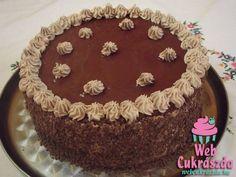 Csupa csokitorta Dobos Torte Recipe, Hungarian Recipes, Hungarian Food, Diy Cake, Cakes And More, Amazing Cakes, Nutella, Tiramisu, Birthday Cake