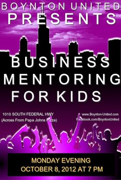Boynton United is looking for 15 more volunteers. Boynton United works as ONE team with several concentrations. At our Business Mentoring soft launch we had 15 volunteers. We need 30. Who wants to help?    Areas of concentration are: Anti-Violence, Mentoring, and Neighborhood Resource Center.