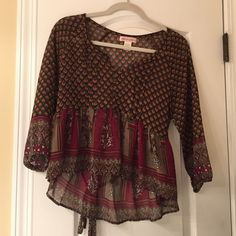 Nordstrom Blouse never worn, sheer blouse Band of Gypsies Tops Blouses