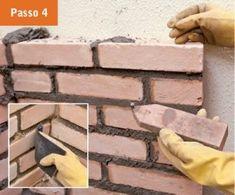CONSTRUTORA SOUSA: Churrasqueira de tijolos, em 22 passos. Barbecue, Firewood, Crafts, Bricks, Masonry Bbq, Cookers, Ovens, Creative Crafts, Creativity