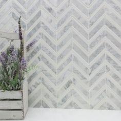Monarch Polished Marble Tile in White Carrara & White Thassos | TileBar.com.