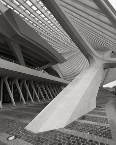 TGV Train Station Guillemins, Liege, Belgium,...