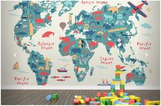Aliexpress.com : Buy Custom papel de parede infantil, Explorer Kids World Map Mural for sitting room bedroom TV wall waterproof vinyl papel DE parede from Reliable mural painting suppliers on Just now wallpaper Co., Ltd.  | Alibaba Group