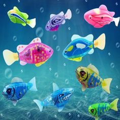 1Pcs New Baby toys Swimming led Light Fish Activated Battery Powered Robot For Bathing send by random ALLIKE