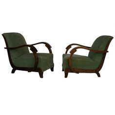 Pair of Art Deco Lounge Chairs | From a unique collection of antique and modern club chairs at https://www.1stdibs.com/furniture/seating/club-chairs/
