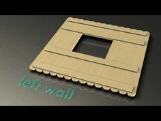Popsicle house instructions, Part 5 - The Left Wall - YouTube