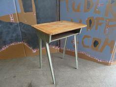 James Leonard single desk for Esavian Desk Inspiration, School Desks, Spare Room, Vintage Industrial, Drafting Desk, Corner Desk, House, Vintage School, Furniture
